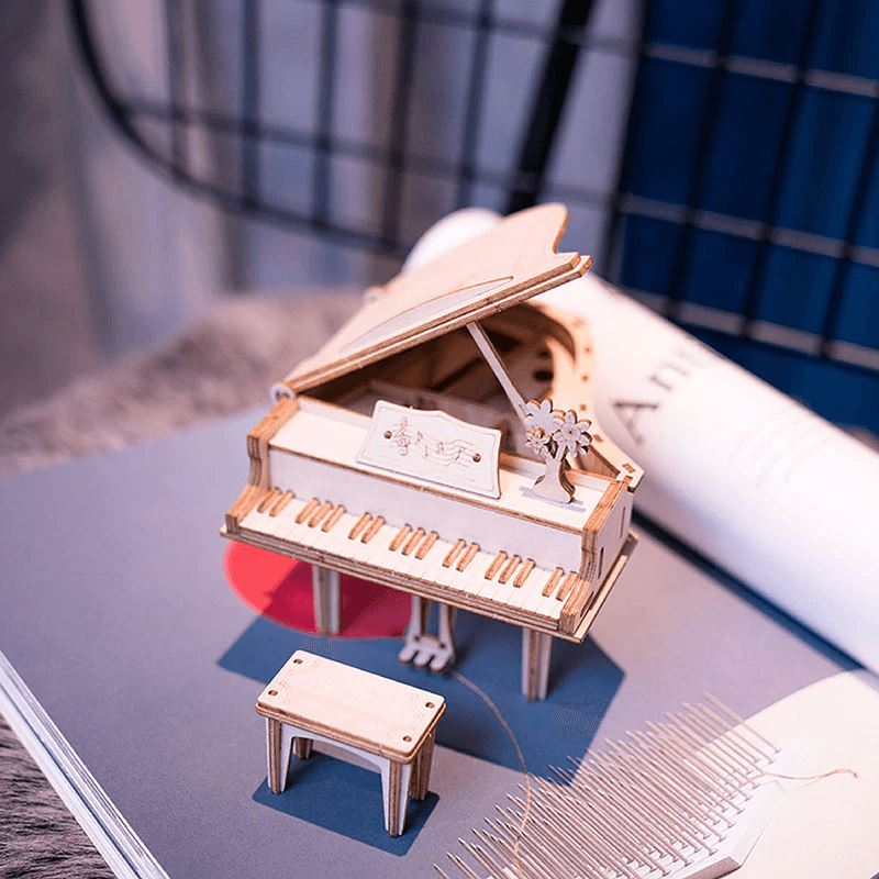 Wooden 3D Puzzle Grand Piano Model Kit