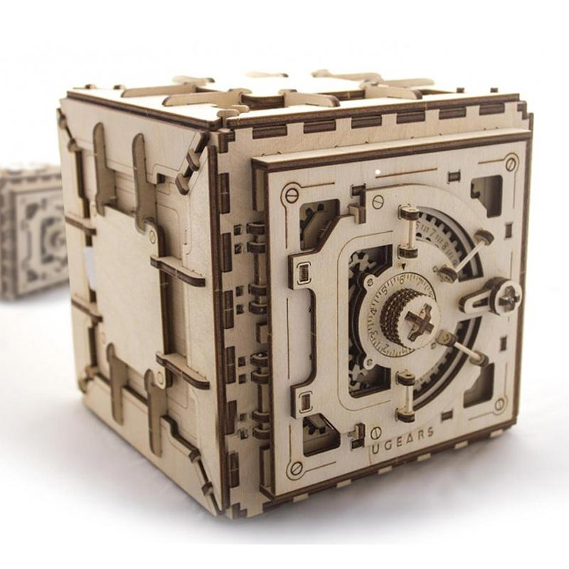 Wooden Mechanical Safe Vault