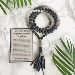 """NEW BEGINNINGS"" 108 Bead Mala"