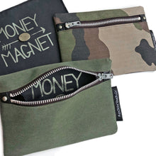 """MONEY MAGNET"" Wallet with Pyrite, Army"