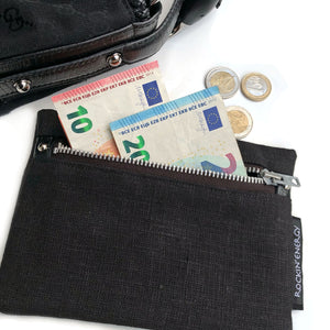 """MONEY MAGNET"" Wallet with Pyrite, Linen"