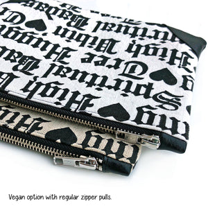 """SPIRITUAL BADASS"" Zip Pouch, Medium"