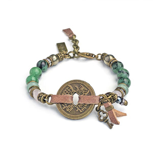 """GIRL BOSS"" Coin Bracelet"