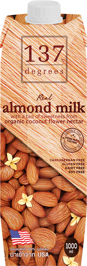Real Almond Milk w/ a tad of natural sweetness; 137 Degrees  -1L