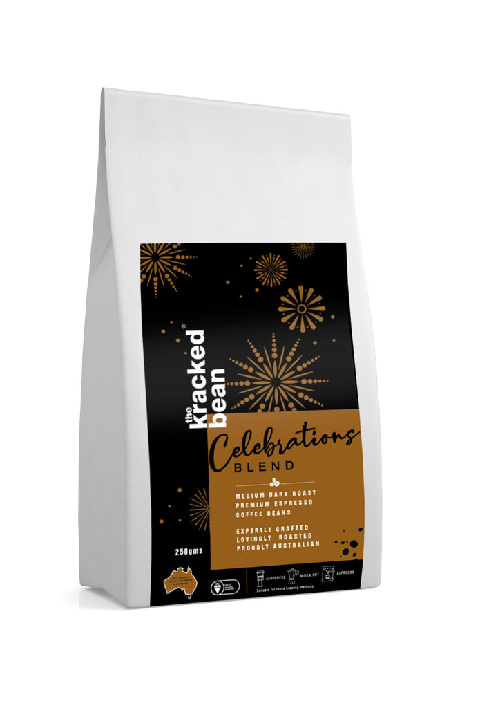NEW! Celebrations blend 100% Arabica; 250 gms from the kracked bean
