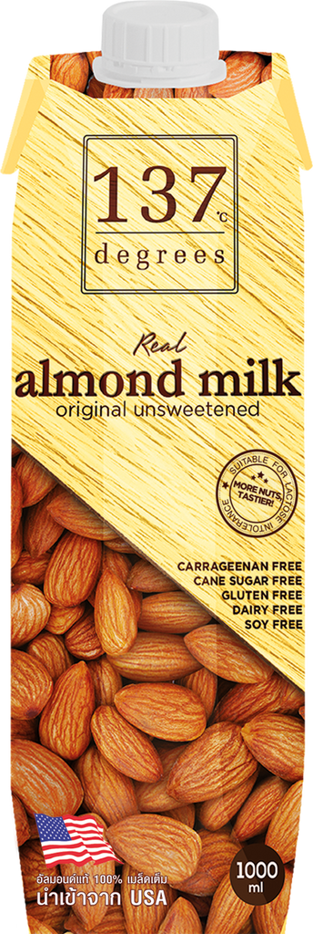 137 Degrees Real Almond Milk Unsweetened - 1L