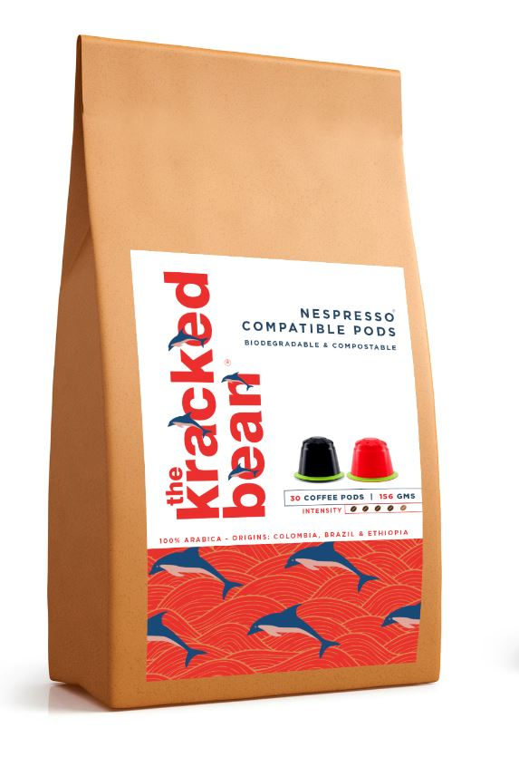100% biodegradable & compostable coffee pods from the kracked bean. Nespresso® compatible. New!
