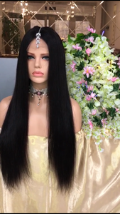 Full lace middle part wig