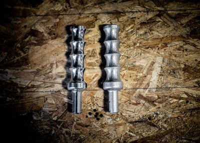 Machined out of 6061 billet aluminum Dagger top knob & adapter  Comes with all supplied hardware Color options Polished aluminum or Billet hammertone Fits most manual vehicles Could be used for any custom application MADE IN USA