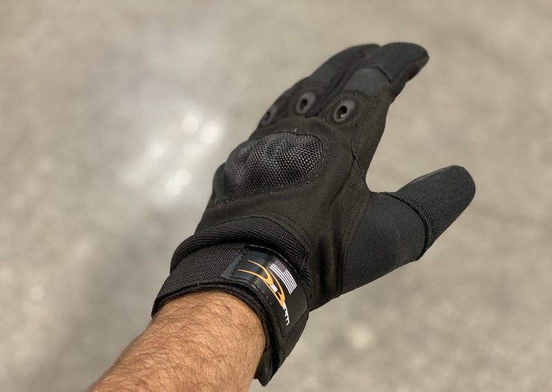 Our work series gloves are high end and very durable. There made out of a blend of materials from carbon fiber board, high elastic mesh, to tactical training Wear resistant palm mats. These were created to work in the worst conditions from tactical training, construction, automotive all the way to off-road gloves.