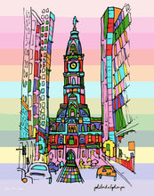 Load image into Gallery viewer, Philadelphia City Hall Love is Love Print 11x14