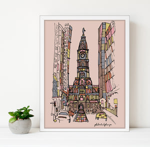 Philadelphia City Hall Print 8x10