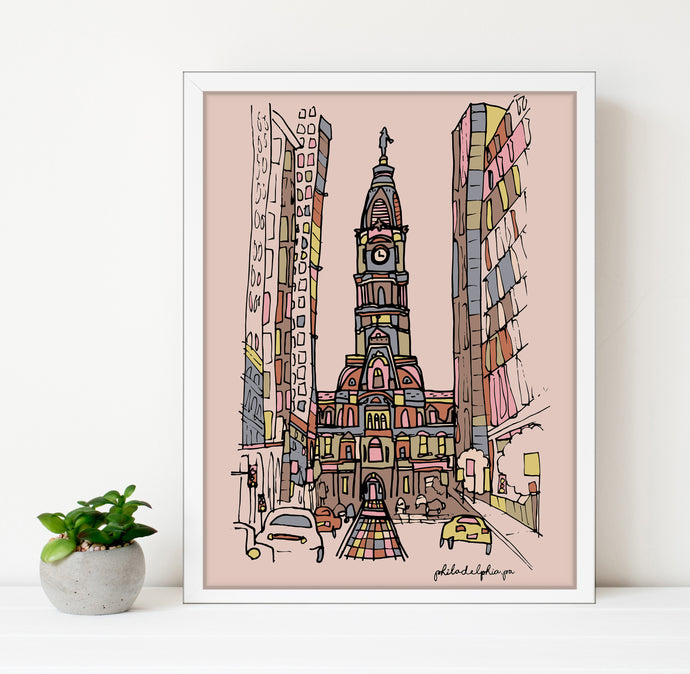 Philadelphia City Hall Print 11x14