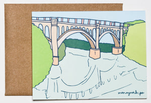 Manayunk Bridge Greeting Card