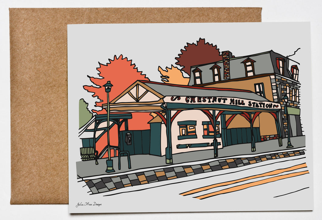 Chestnut Hill, Philadelphia Greeting Card