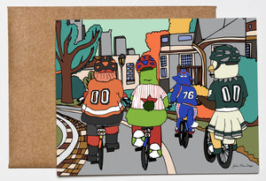 Philly Bike Gang, Philadelphia Greeting Card