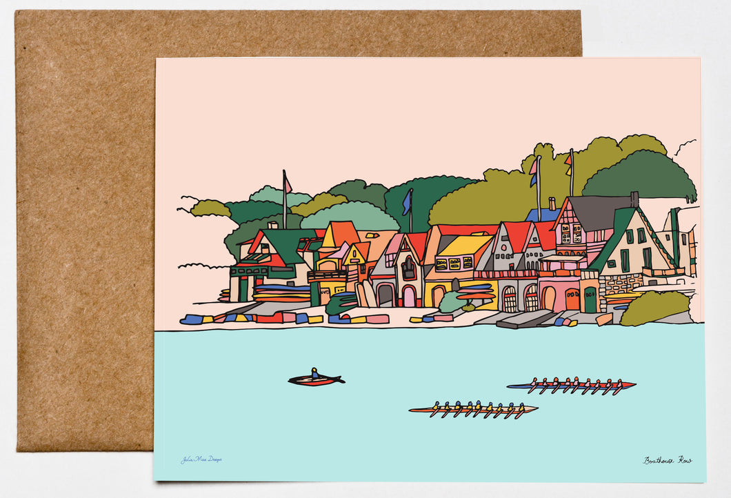 Boathouse Row, Philadelphia Greeting Card