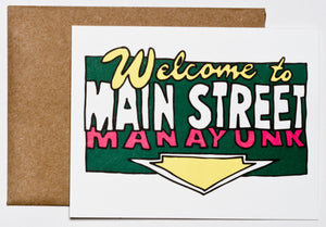 Welcome to Main Street Manayunk Greeting Card