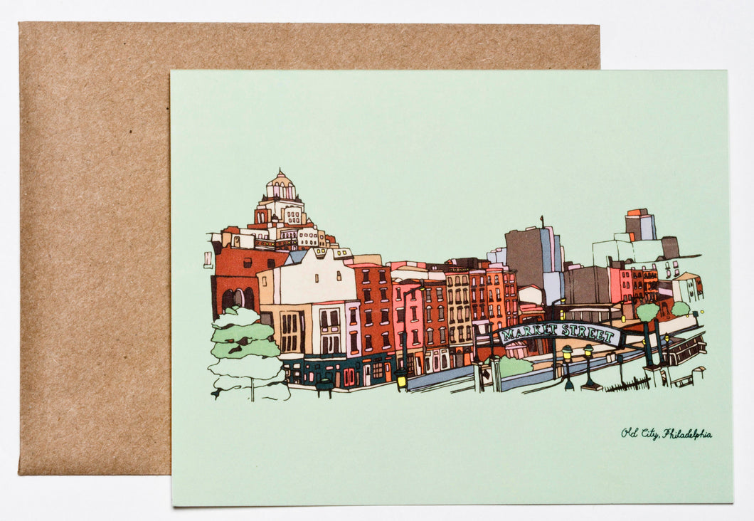 Old City, Philadelphia Greeting Card