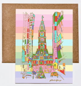 Philadelphia City Hall Love is Love Greeting Card