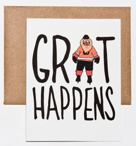 Gritty, Flyers, Philadelphia Sports, Grit Happens Greeting Card