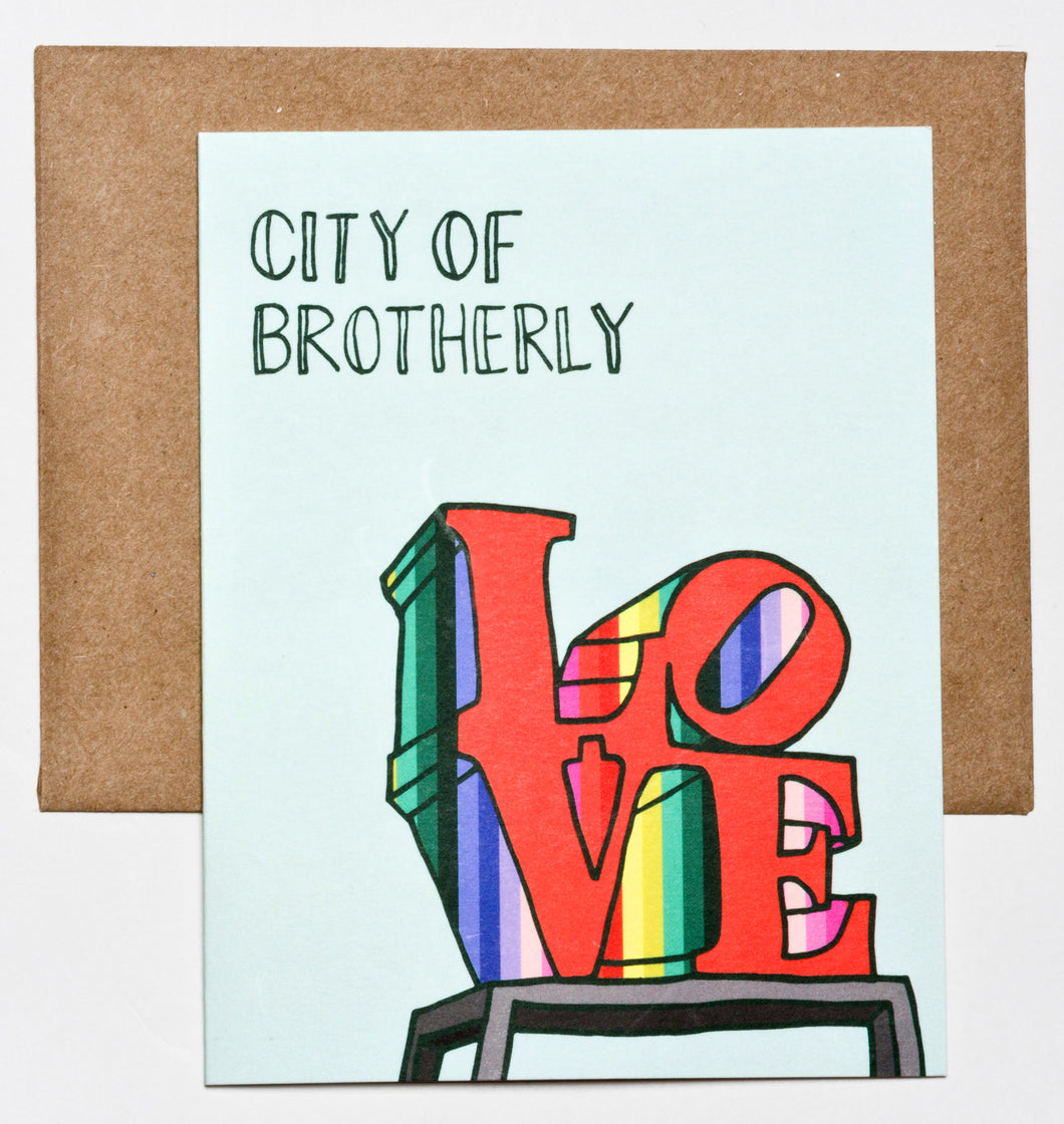 City of Brotherly Love, Philadelphia Greeting Card