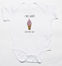 Load image into Gallery viewer, Pink I Melt Hearts Baby Baby Bodysuit, Beach Art