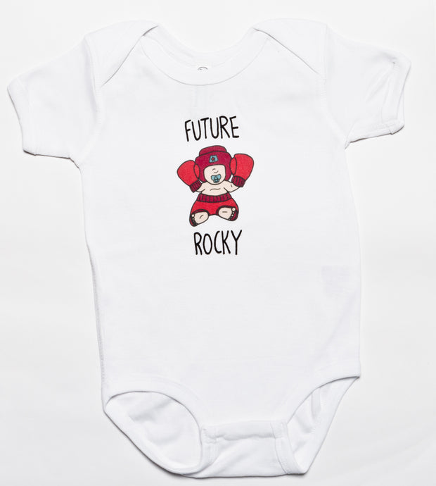 Future Rocky Baby Bodysuit, Philadelphia Art