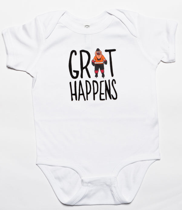 Grit Happens Baby Bodysuit, Philadelphia Art