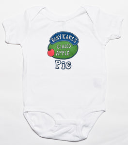 Babykakes Glazed Apple Pie Baby Baby Bodysuit, Philadelphia Art