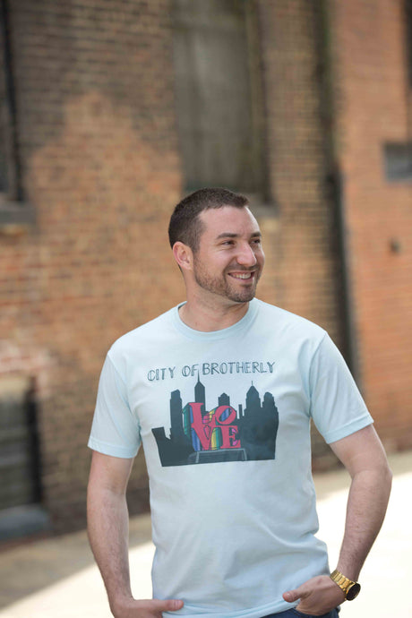 City of Brotherly Love Tee, Philadelphia Art