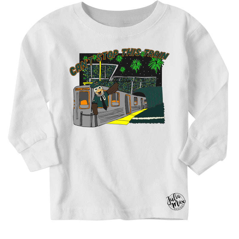 Can't Stop This Train Long Sleeved Toddler's Tee, Philadelphia Art, Eagles