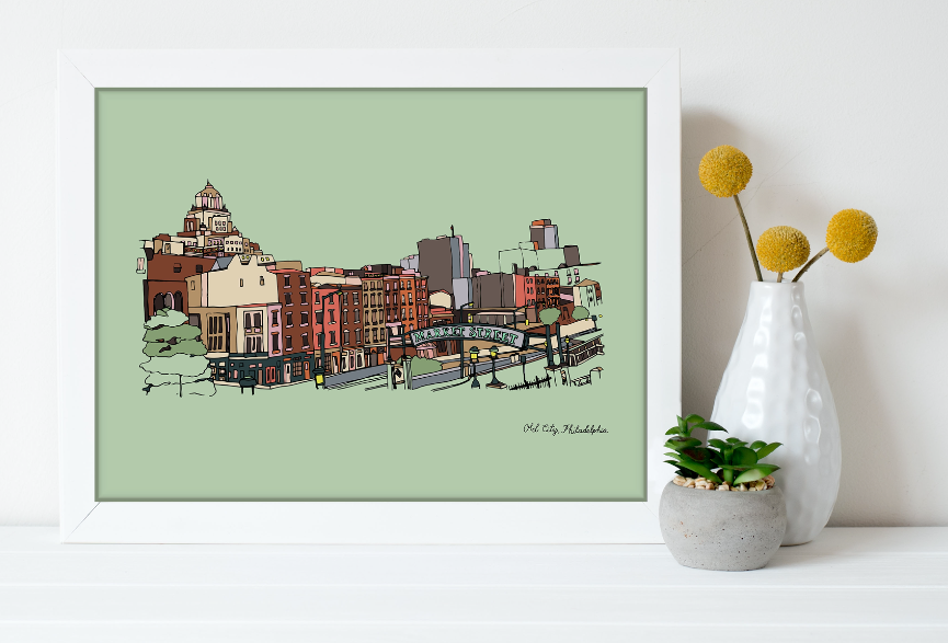 Old City Print 11x14, Philadelphia Art