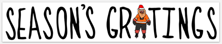 Season's Gritings Bumper Sticker, Philadelphia Art, Gritty, Philly Holiday