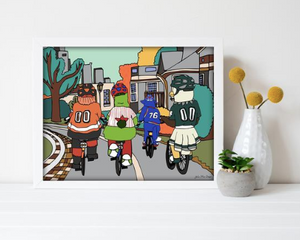 Philly Bike Gang Print 11x14, Philadelphia, Kelly Drive