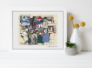 Reading Terminal Market Print 11x14, Philadelphia Art
