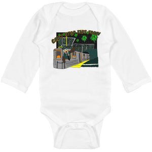Can't Stop This Train Long Sleeved Baby Bodysuit, Philadelphia Art, Eagles