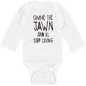 Gimme the Jawn Long Sleeved Baby Bodysuit, Philadelphia Art