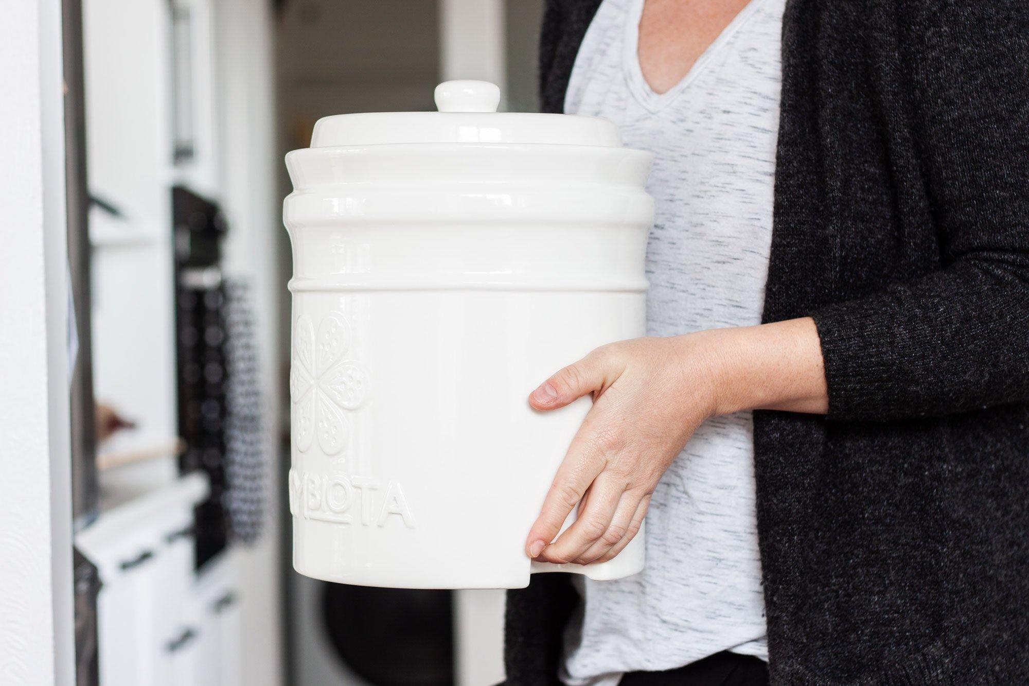 4.5L white fermentation pot