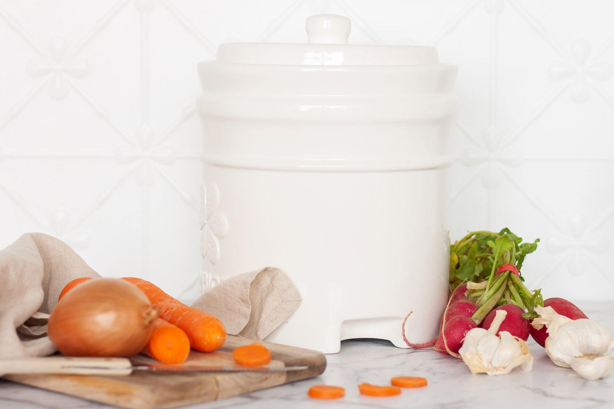 4.5L glazed Fermentation pot