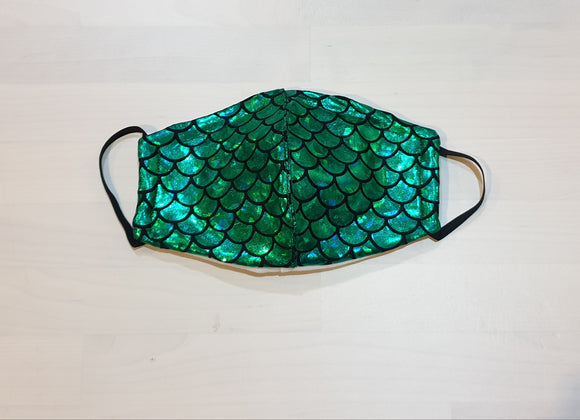 Green Mermaid Mask