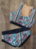 Colour Aztec Scrunch Bum Pole Shorts - SALE! - Le Chatelier Pole Wear