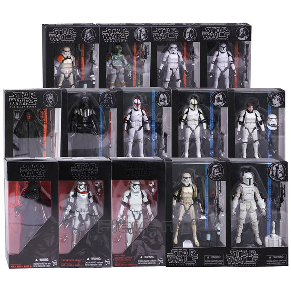 Star Wars - Coleção Black Series (Darth Vader / Darth Maul / Stormtrooper / Clone Trooper / Sandtrooper / Boba Fett / Phasma / Kylo Ren /  Han Solo)