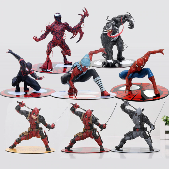 Marvel - Venom / Carnage / Winter Spider-man / Black Spider-man / Deadpool / Gray Deadpool