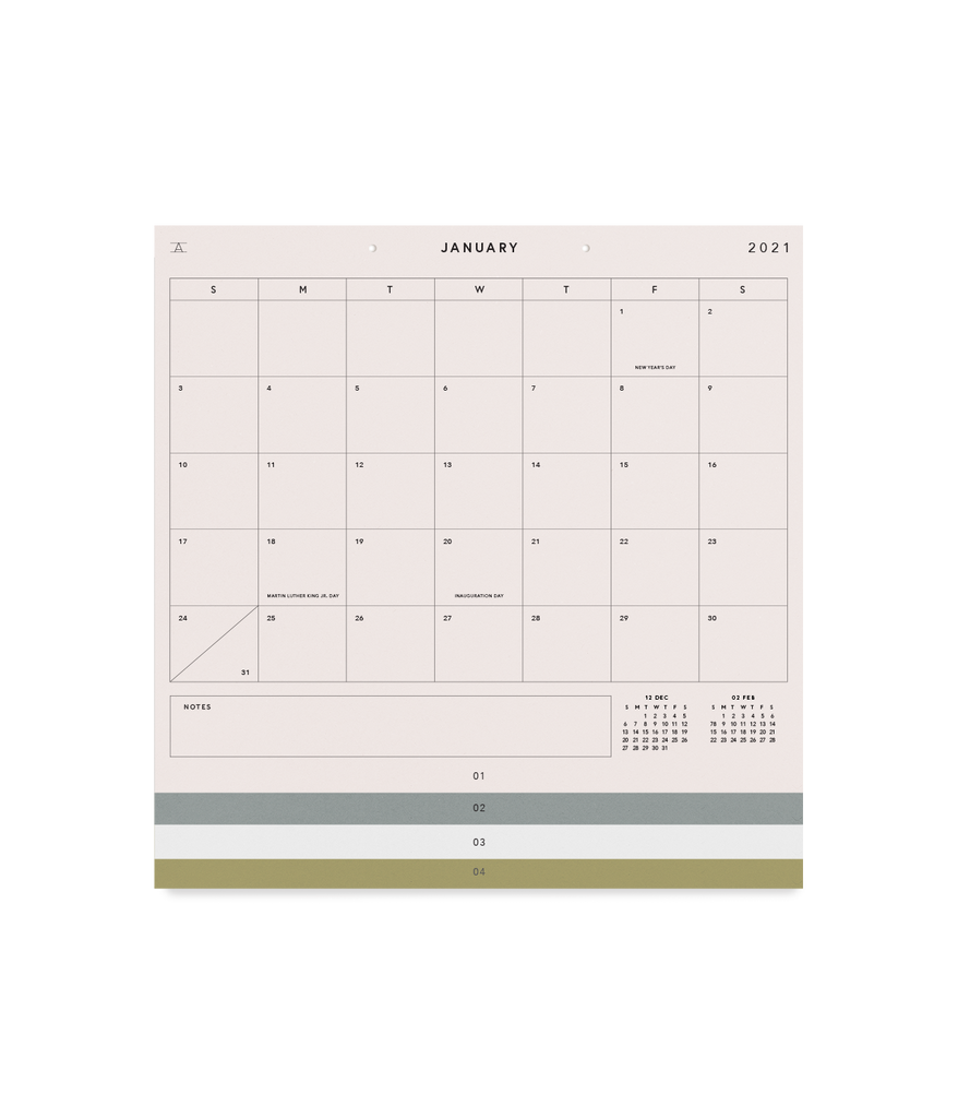 2021 Studio Calendar - Thirdmark Supply House