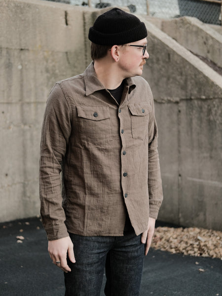 3Sixteen Olive Gauze Fatigue Overshirt - Thirdmark Supply House