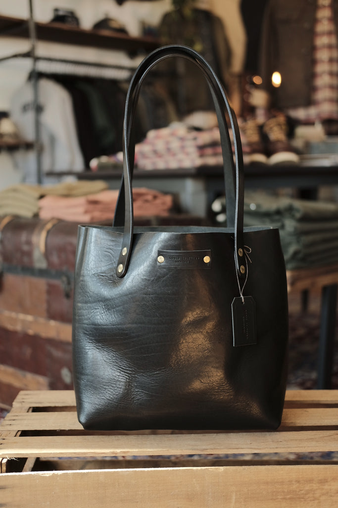 Black Horween Leather Tote - Thirdmark Supply House