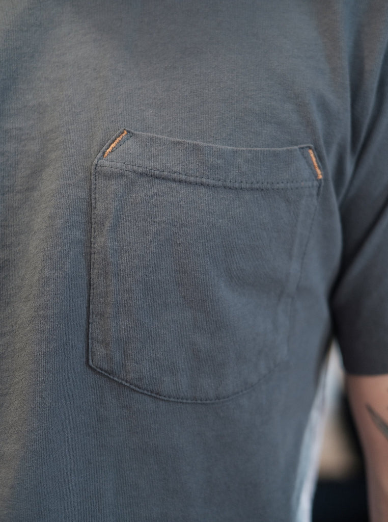 Freenote Cloth 9oz Pocket Tee - Faded Blue - Thirdmark Supply House