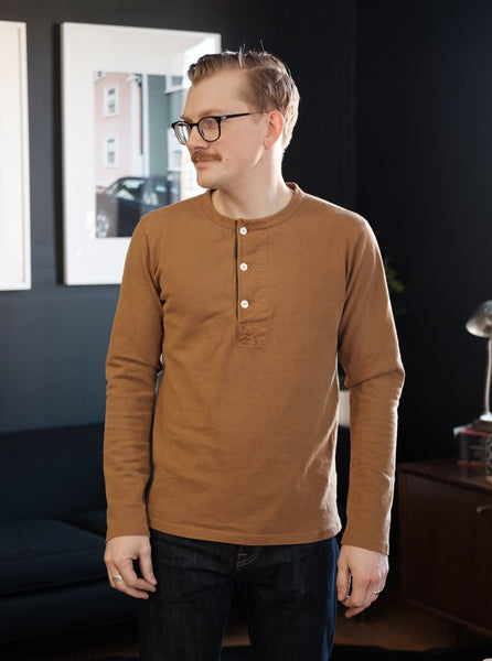 Freenote Cloth 13oz Henley - Tobacco - Thirdmark Supply House