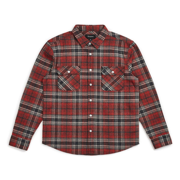 Brixton - Bowery Flannel - Brick/Steel - Division and Co.